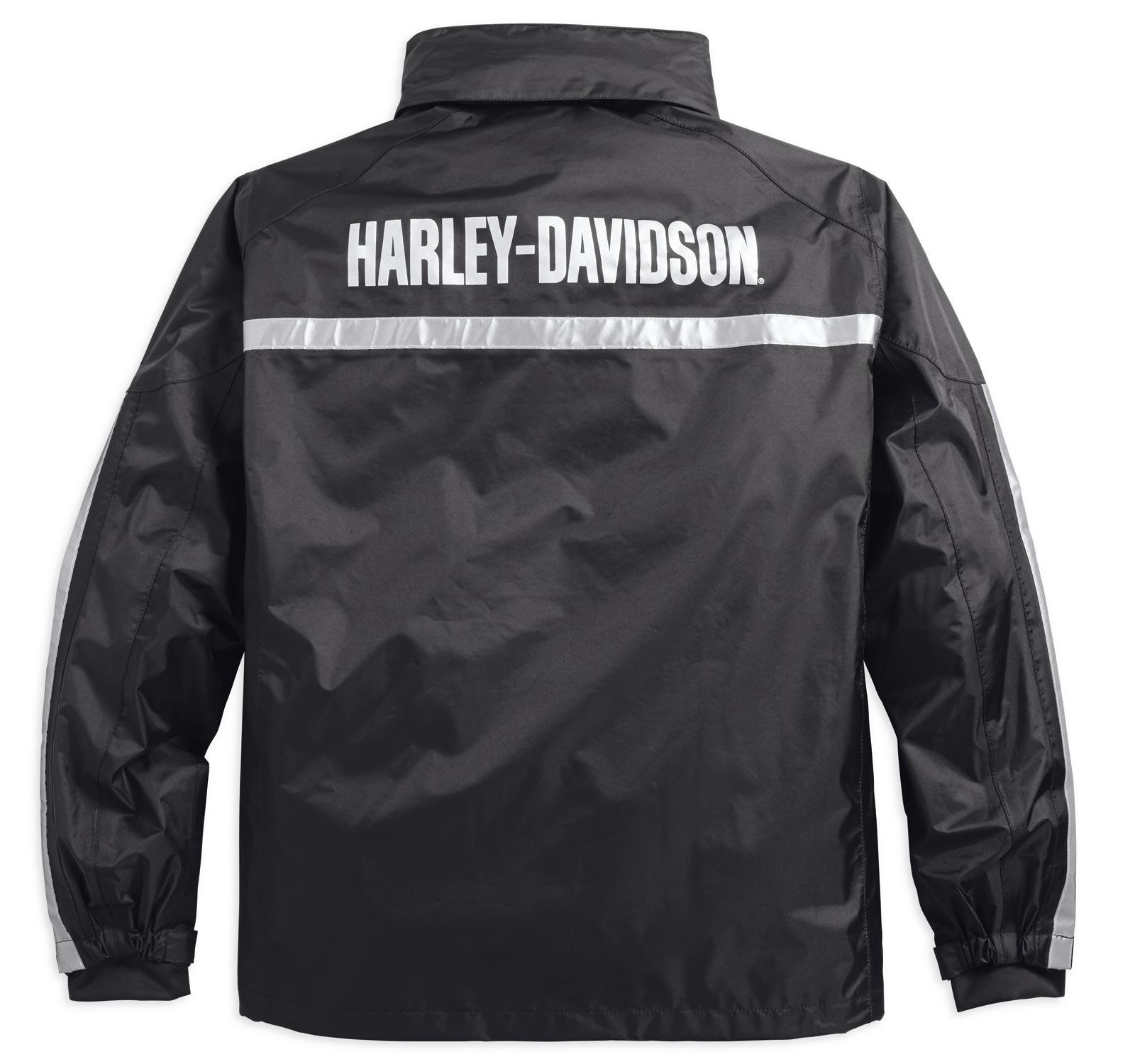98191 17vm harley davidson regenjacke separate schwarz im. Black Bedroom Furniture Sets. Home Design Ideas