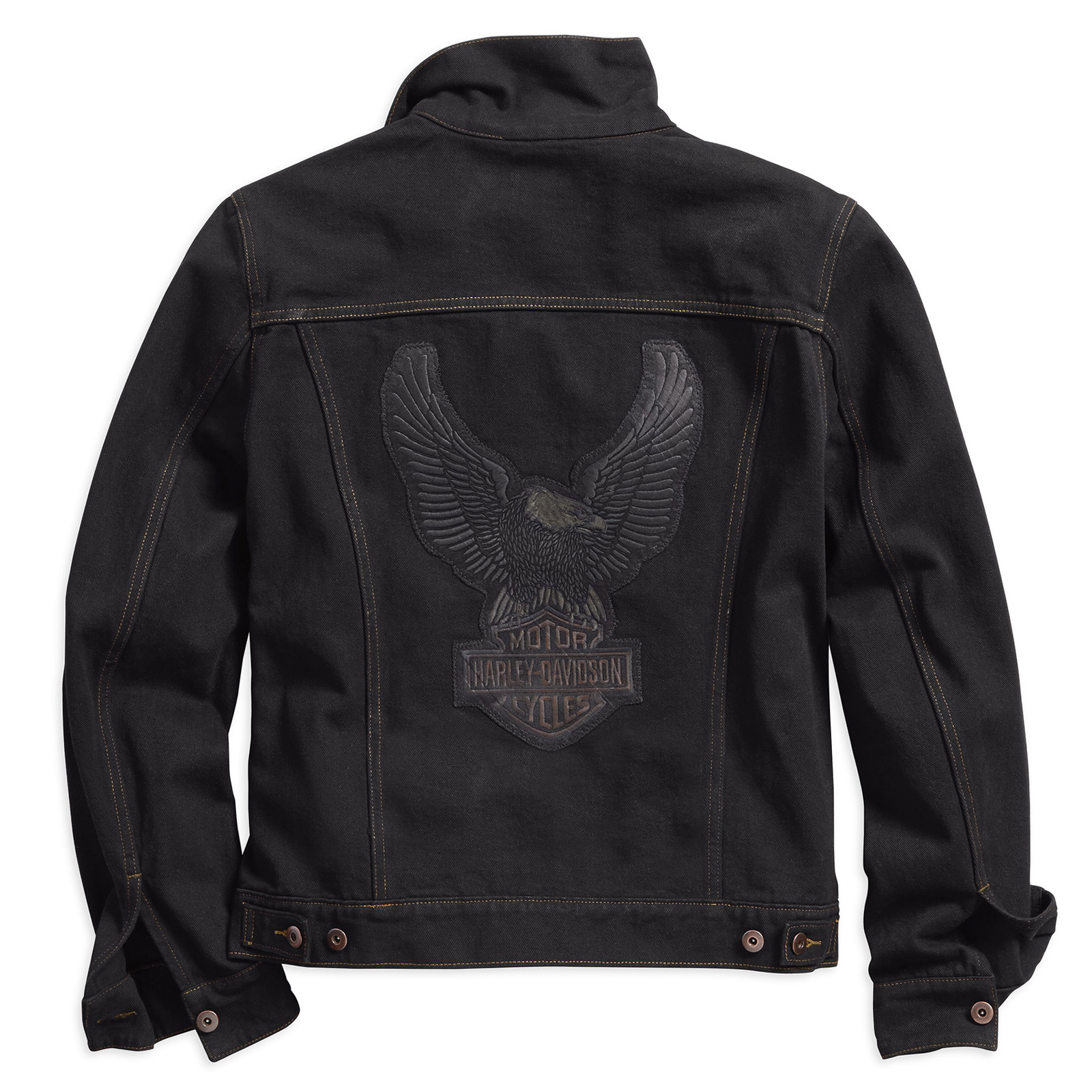 bec27eee8a48 ... H-D Motorclothes Harley-Davidson Men's Denim Jacket Eagle Appliqué,  black - 98592- ...