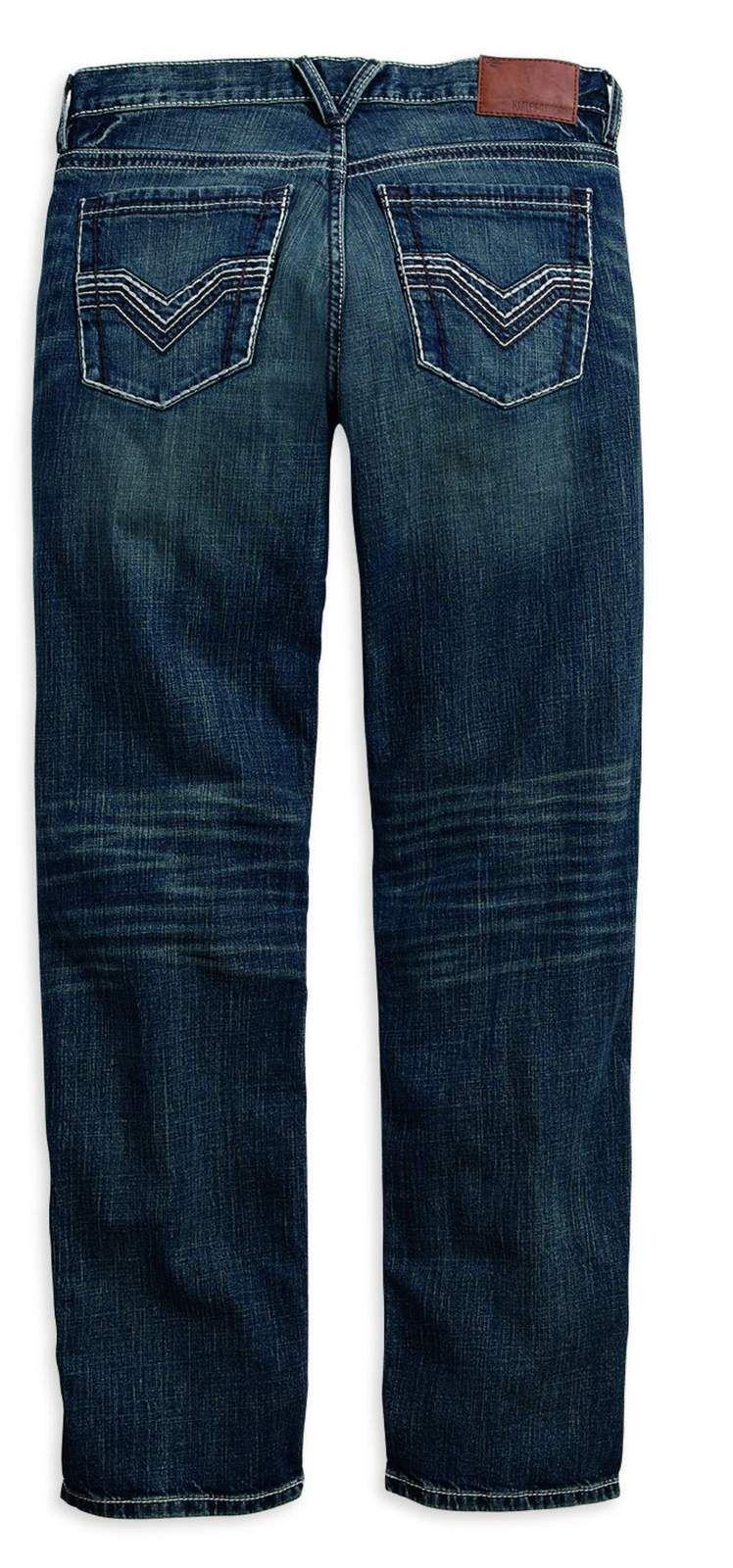 99030 16vm 4030 harley davidson straight leg fit modern jeans indigo 40 30 at thunderbike shop. Black Bedroom Furniture Sets. Home Design Ideas