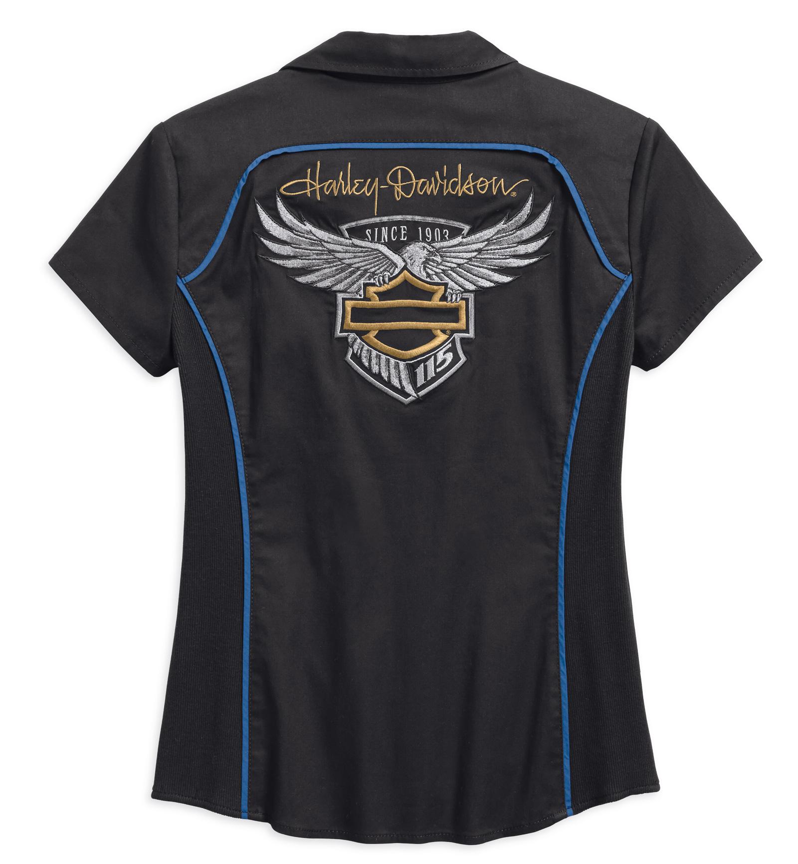99047 18vw 022l Harley Davidson Women 39 S Zip Front Shirt