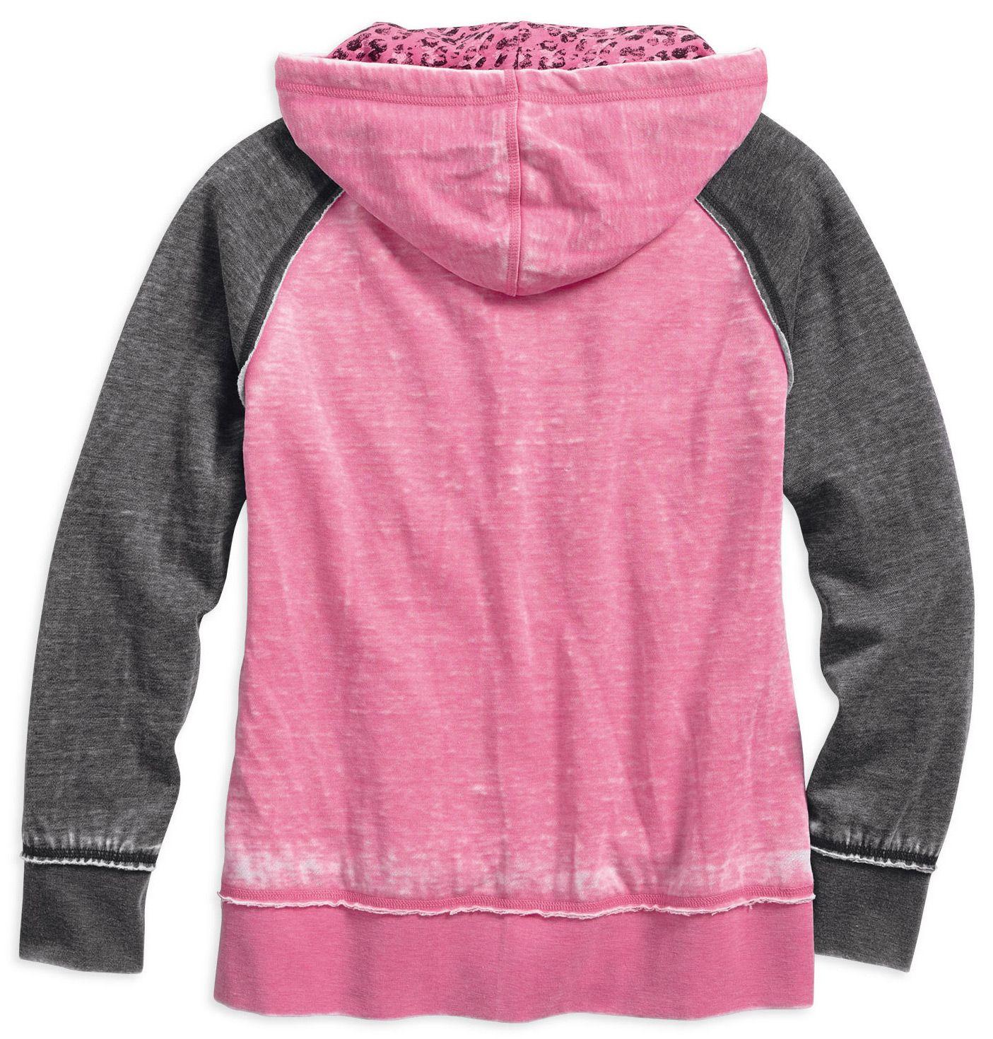 Pink leopard hoodie