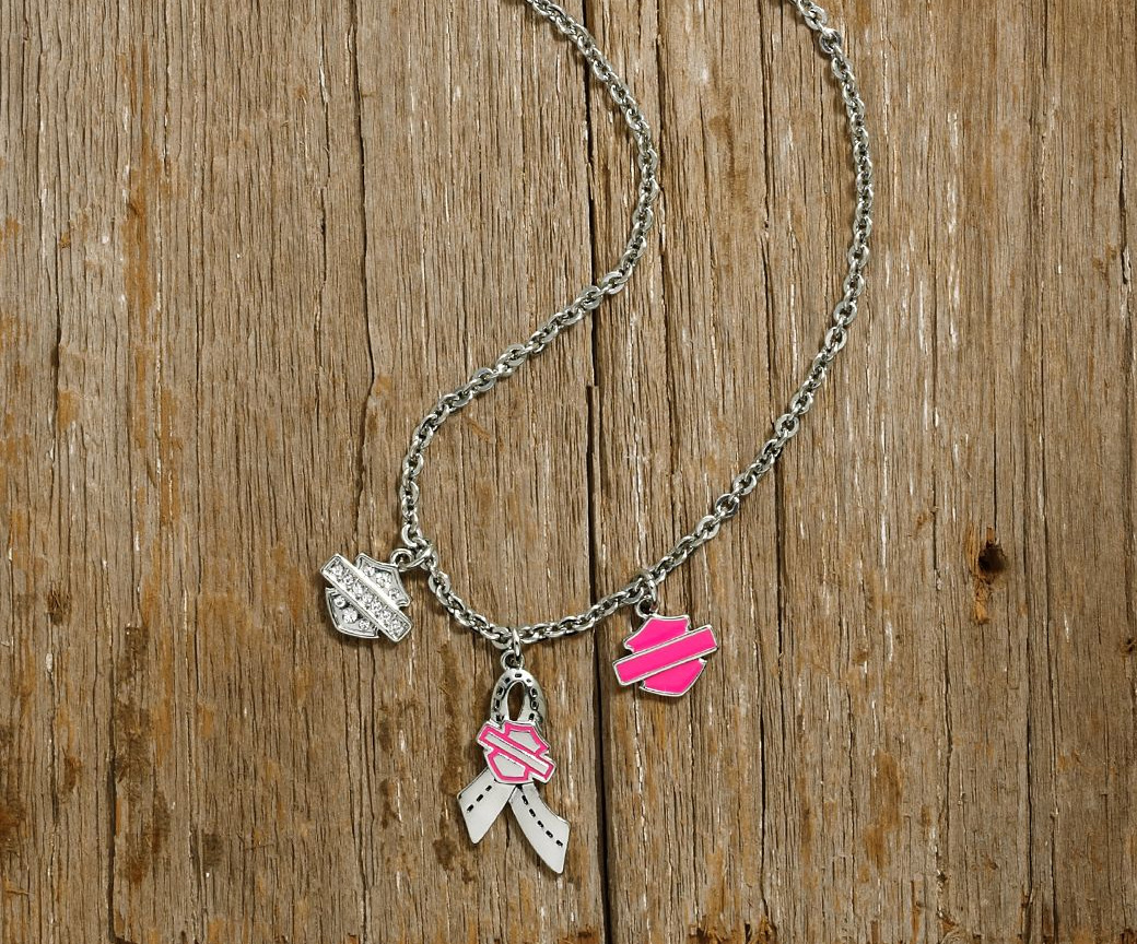 99562 17vw harley davidson necklace pink label charm at for Irish jewelry stores in nj
