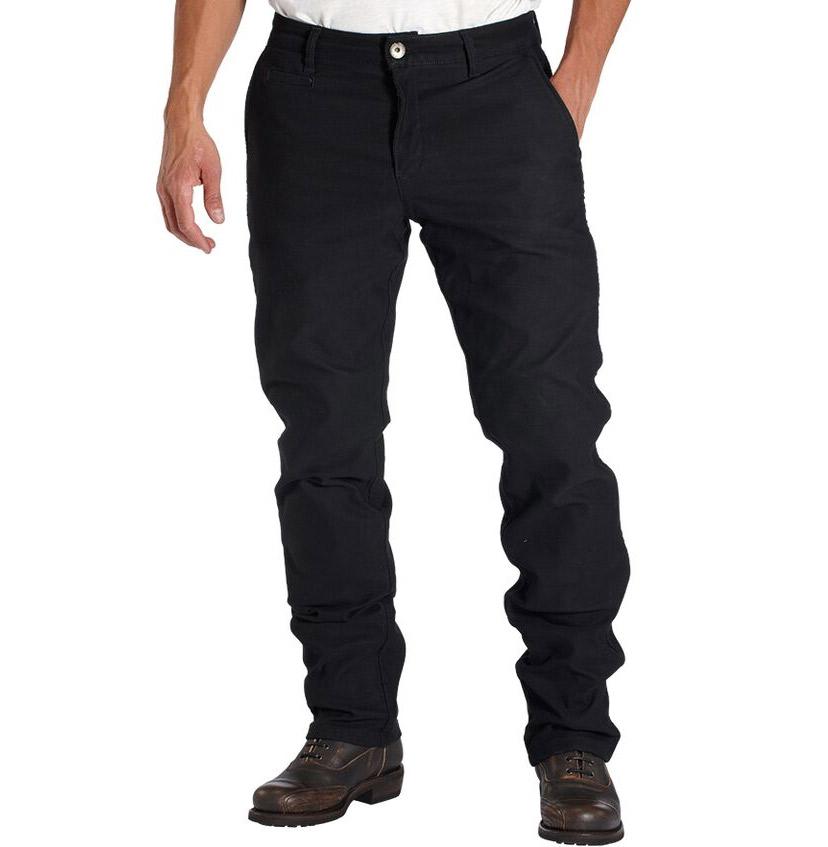 rokker chino biker jeans schwarz im coolen slim fit bei thunderbike. Black Bedroom Furniture Sets. Home Design Ideas