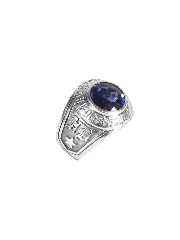 harley davidson ring silver with saphir at thunderbike shop. Black Bedroom Furniture Sets. Home Design Ideas