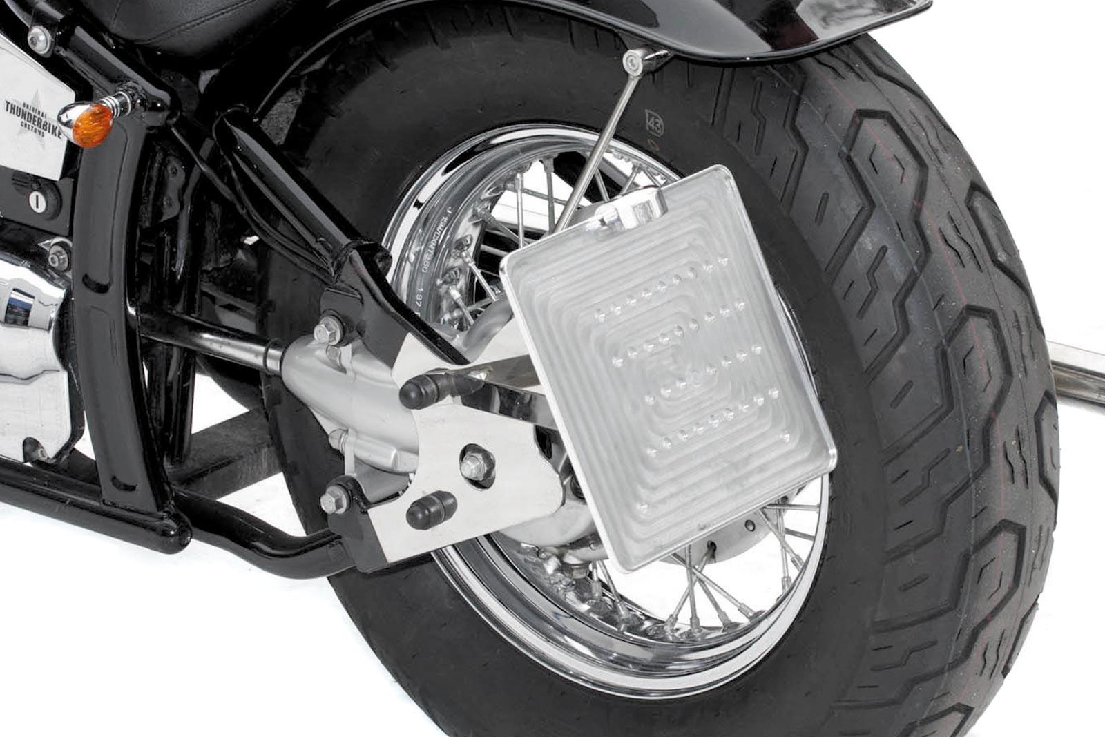 Motorrad Seitlicher Kennzeichenhalter License Plate Holder Chopper Universal
