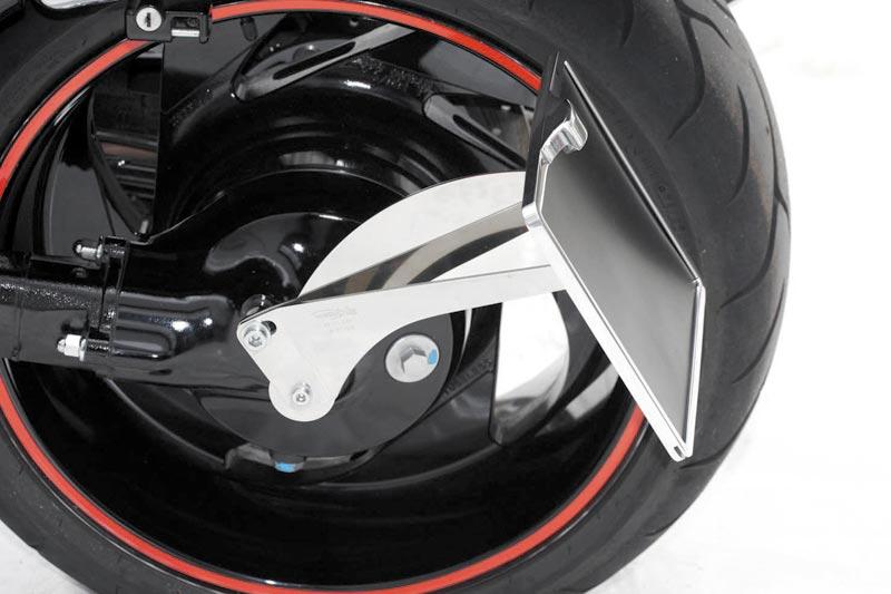 thunderbike seitlicher kennzeichenhalter f r xvs950a t v. Black Bedroom Furniture Sets. Home Design Ideas