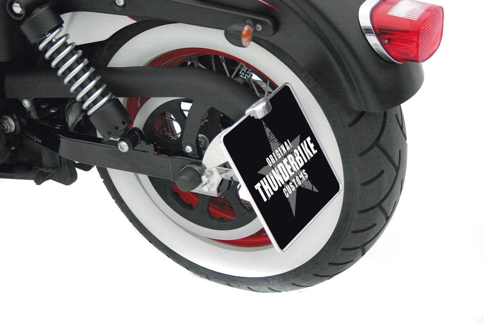 thunderbike seitlicher kennzeichenhalter f r softail ab 08. Black Bedroom Furniture Sets. Home Design Ideas