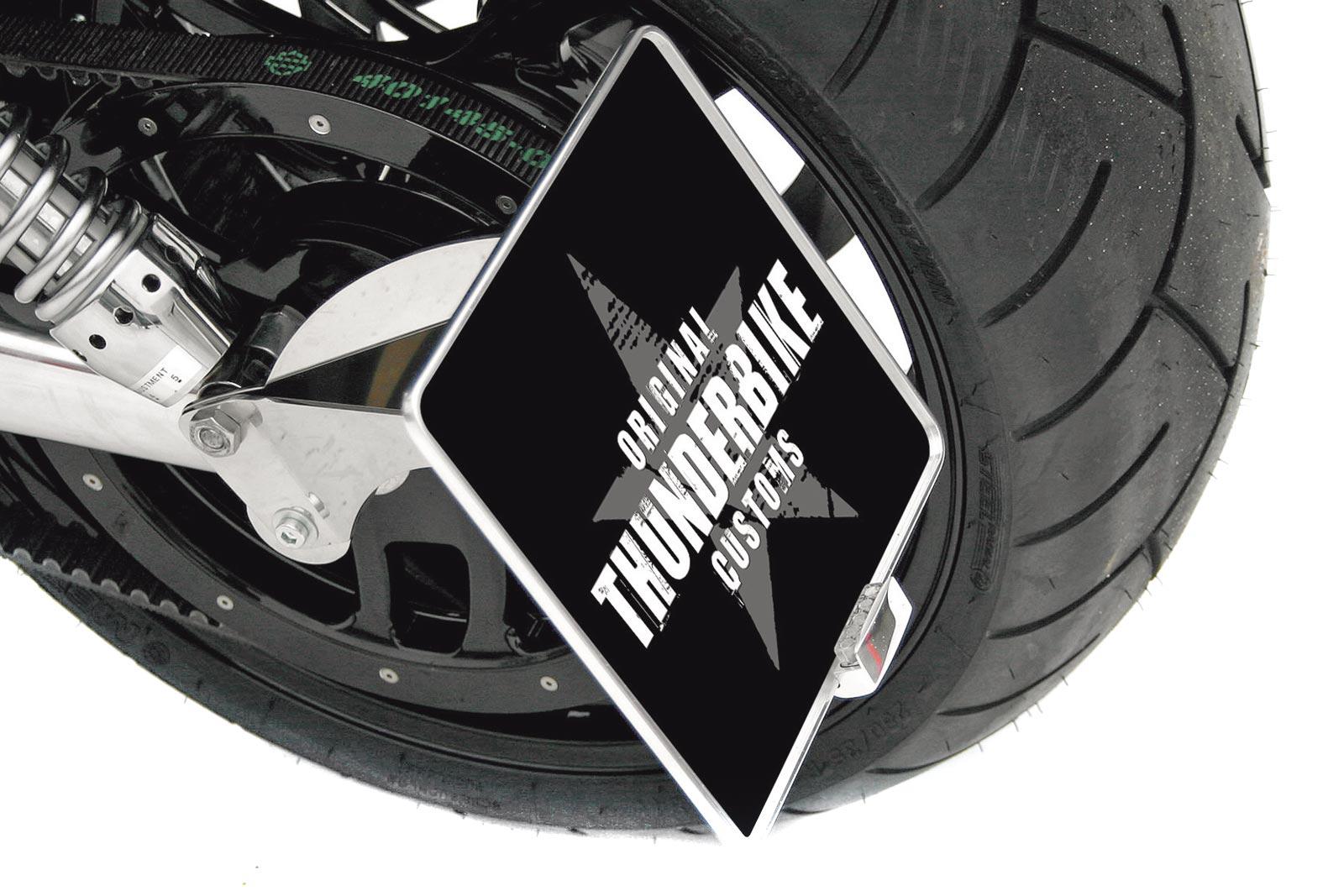 Thunderbike seitlicher Kennzeichenhalter für VRSC / V-Rod (TÜV)