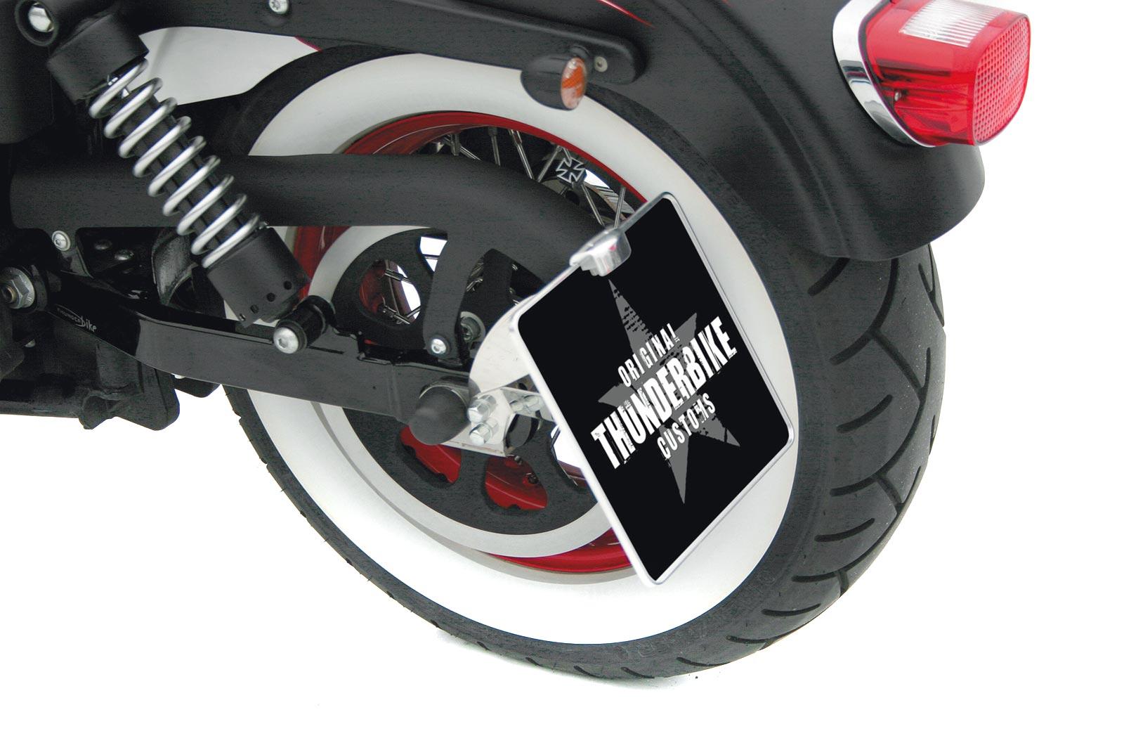 Harley Davidson Sportster Kennzeichenhalter seitlich mit Komplett-Beleuchtung