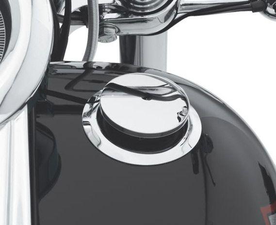 62910-09C Flush Mount Fuel Cap & Gauge Kit Chrome at Thunderbike Shop