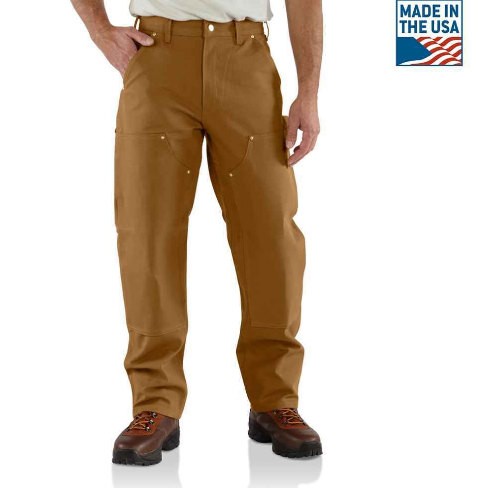 carhartt double front work pant brown at thunderbike shop. Black Bedroom Furniture Sets. Home Design Ideas