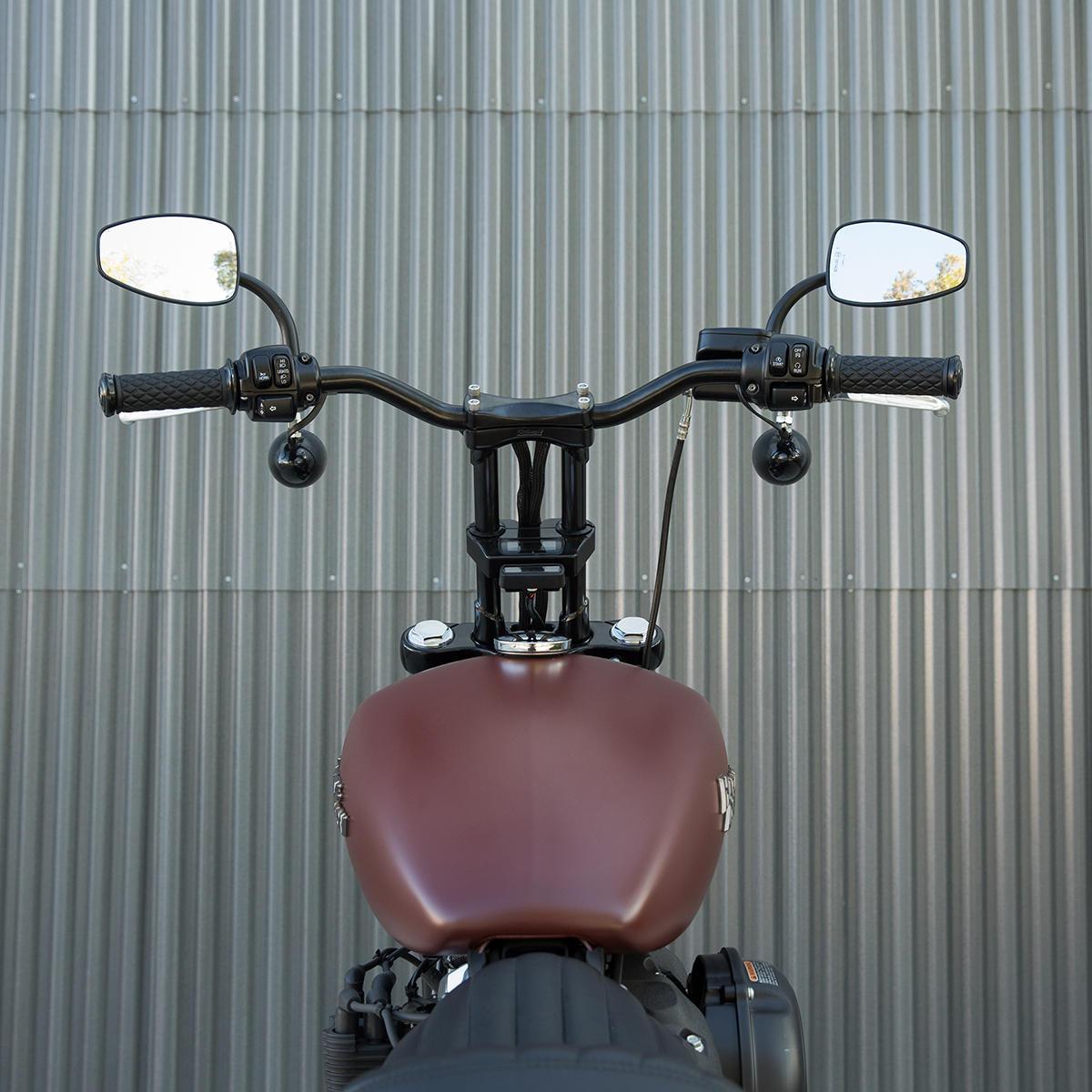 "Biltwell 1/"" Black Tracker Handlebars Throttle-by-Wire for Harley Models"