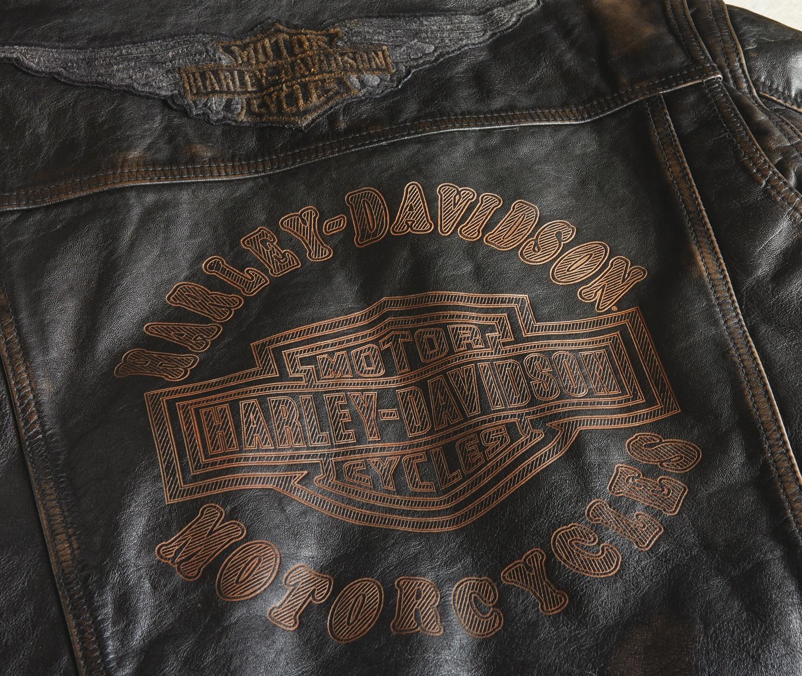 98036 19VM Harley Davidson Lederjacke Digger im Thunderbike Shop
