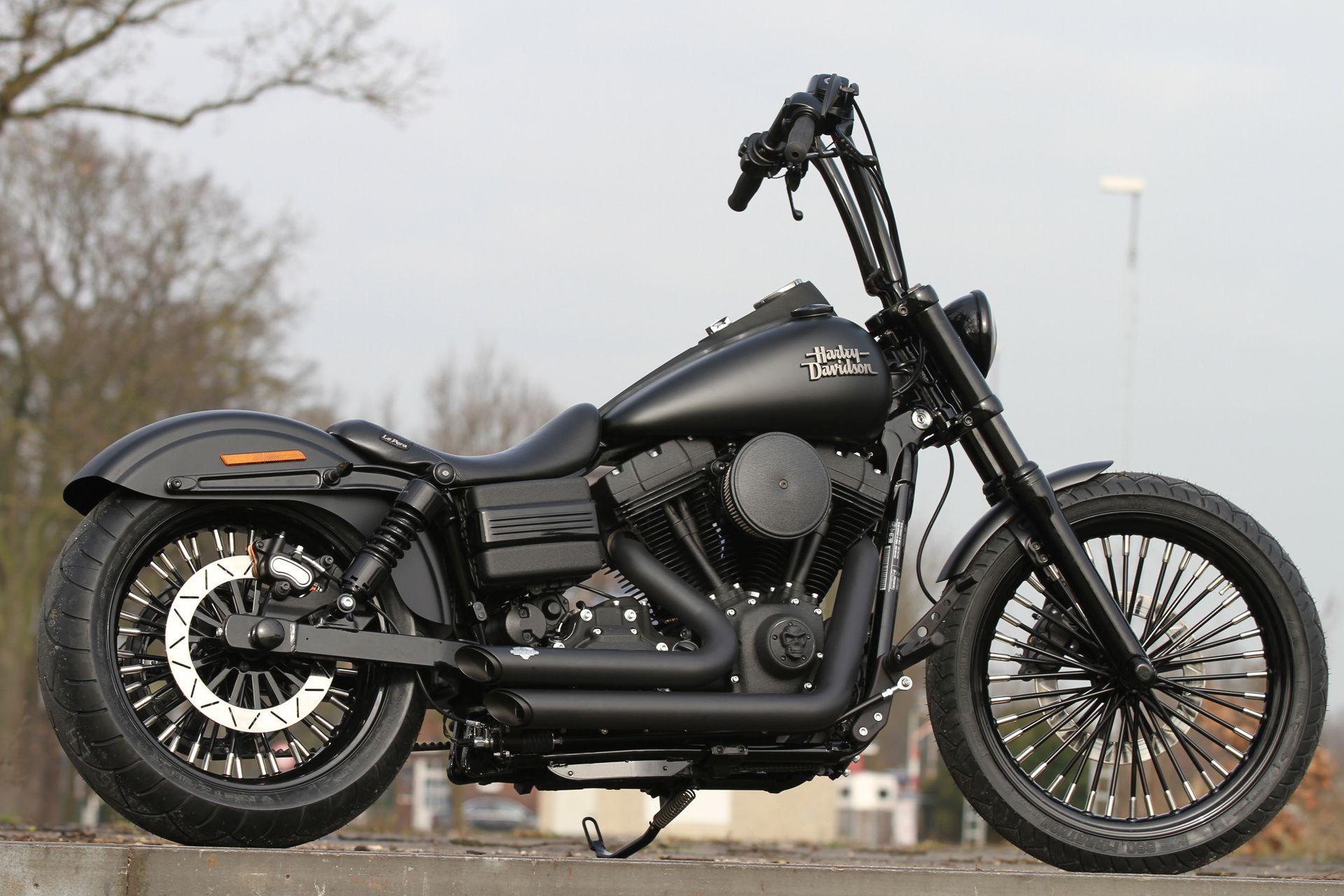 Harley Davidson Custom Black Wheels