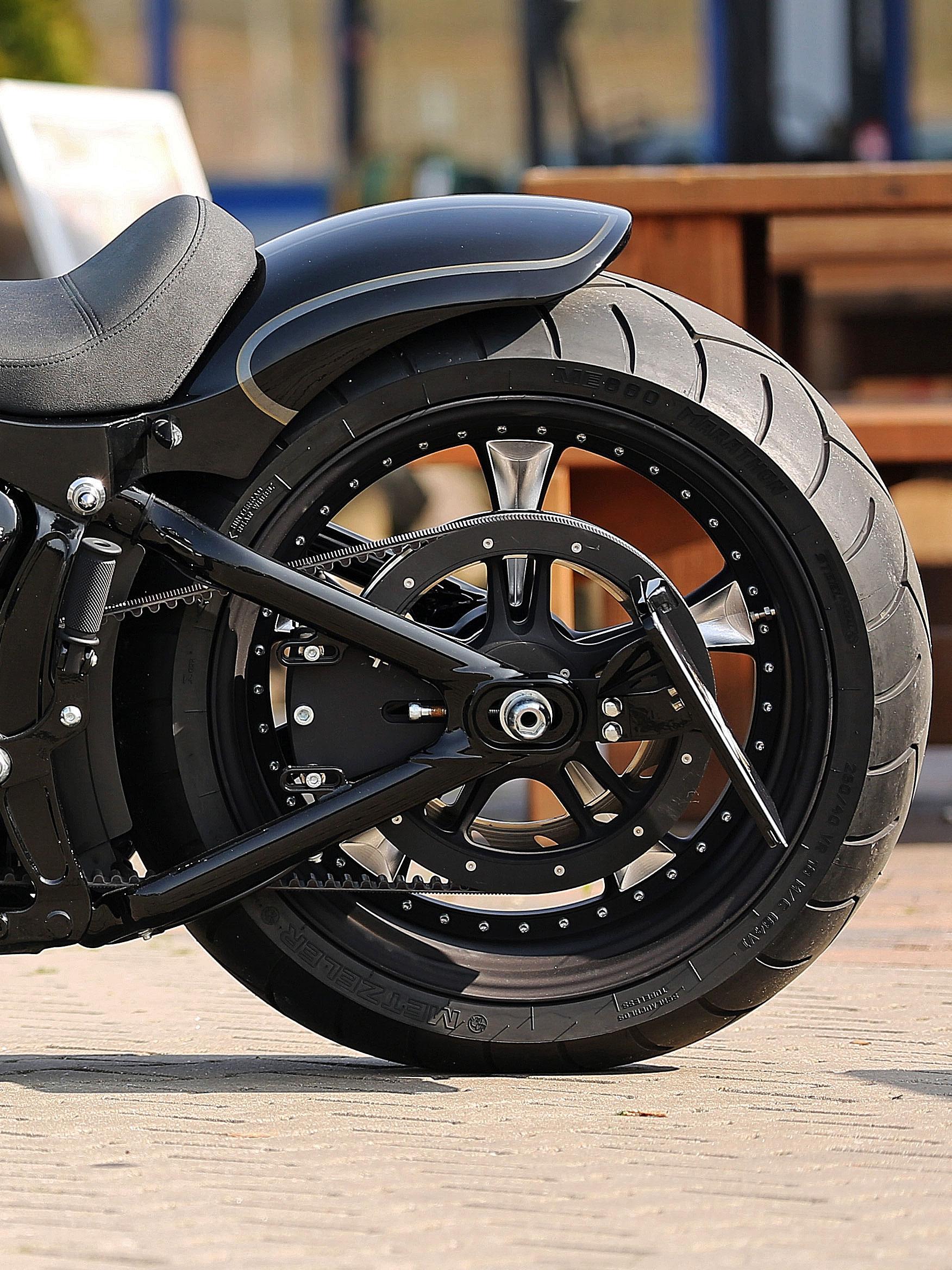Thunderbike seitlicher Kennzeichenhalter für Softail ab 08 (kurz)