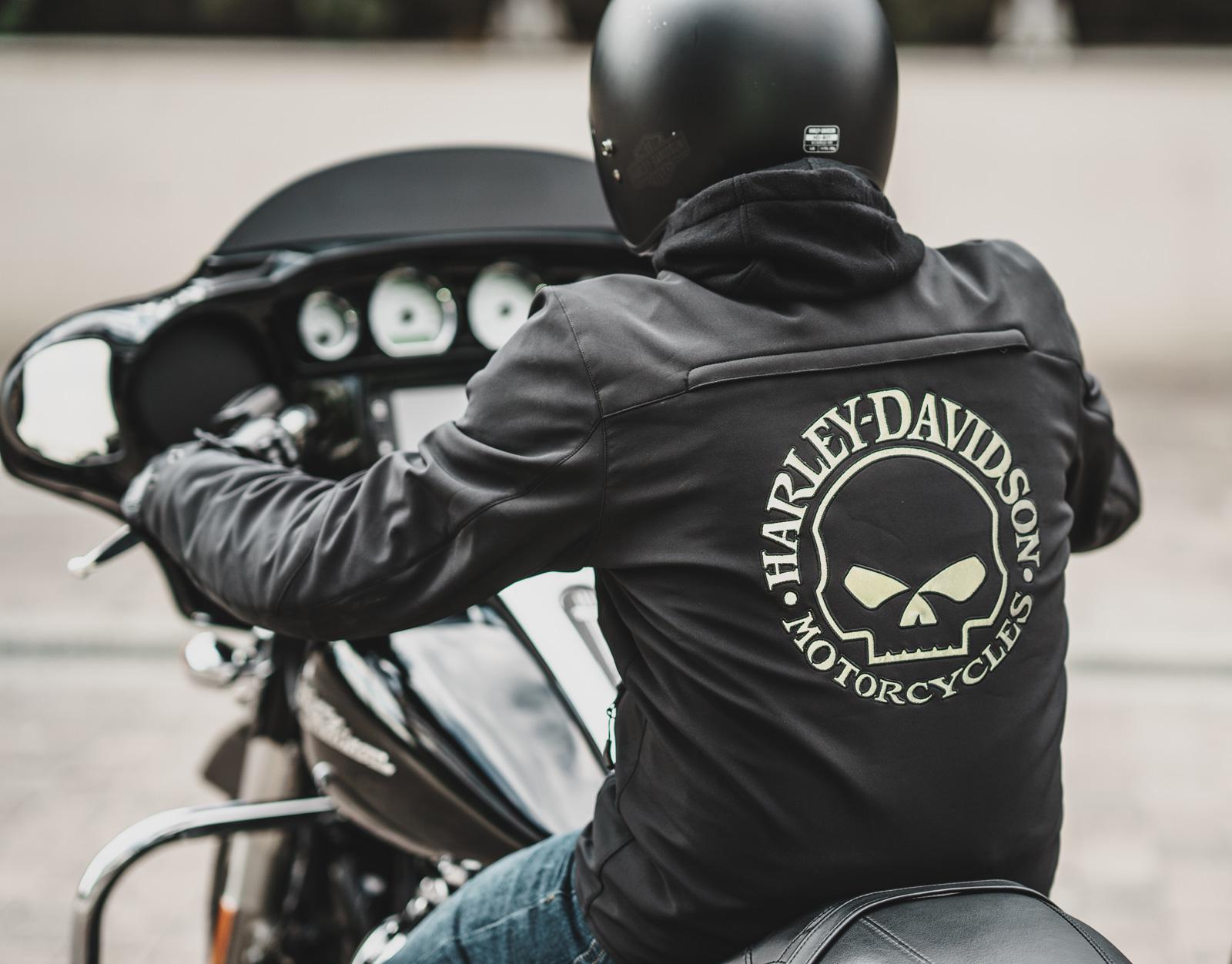 98164 17EM Harley Davidson Softshell Jacke Reflective Skull
