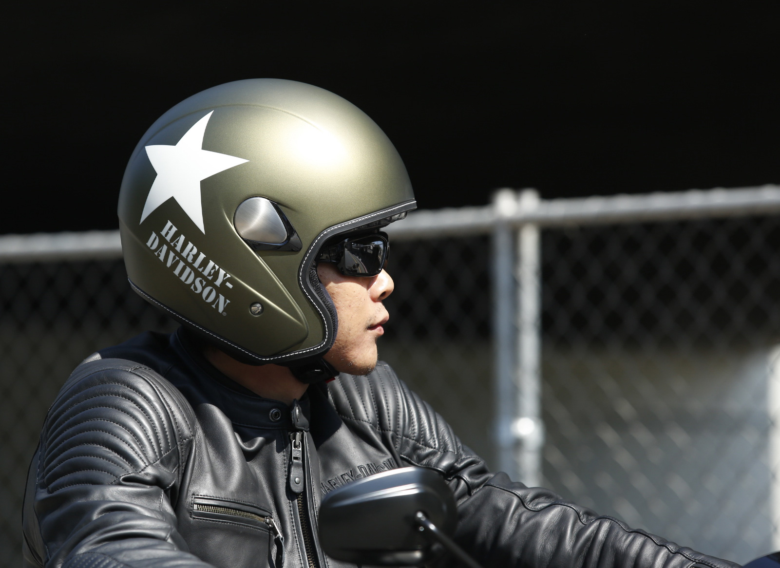 98241-16EM Harley-Davidson Helm Military Retro 3/4, Olive Gold Denim ...
