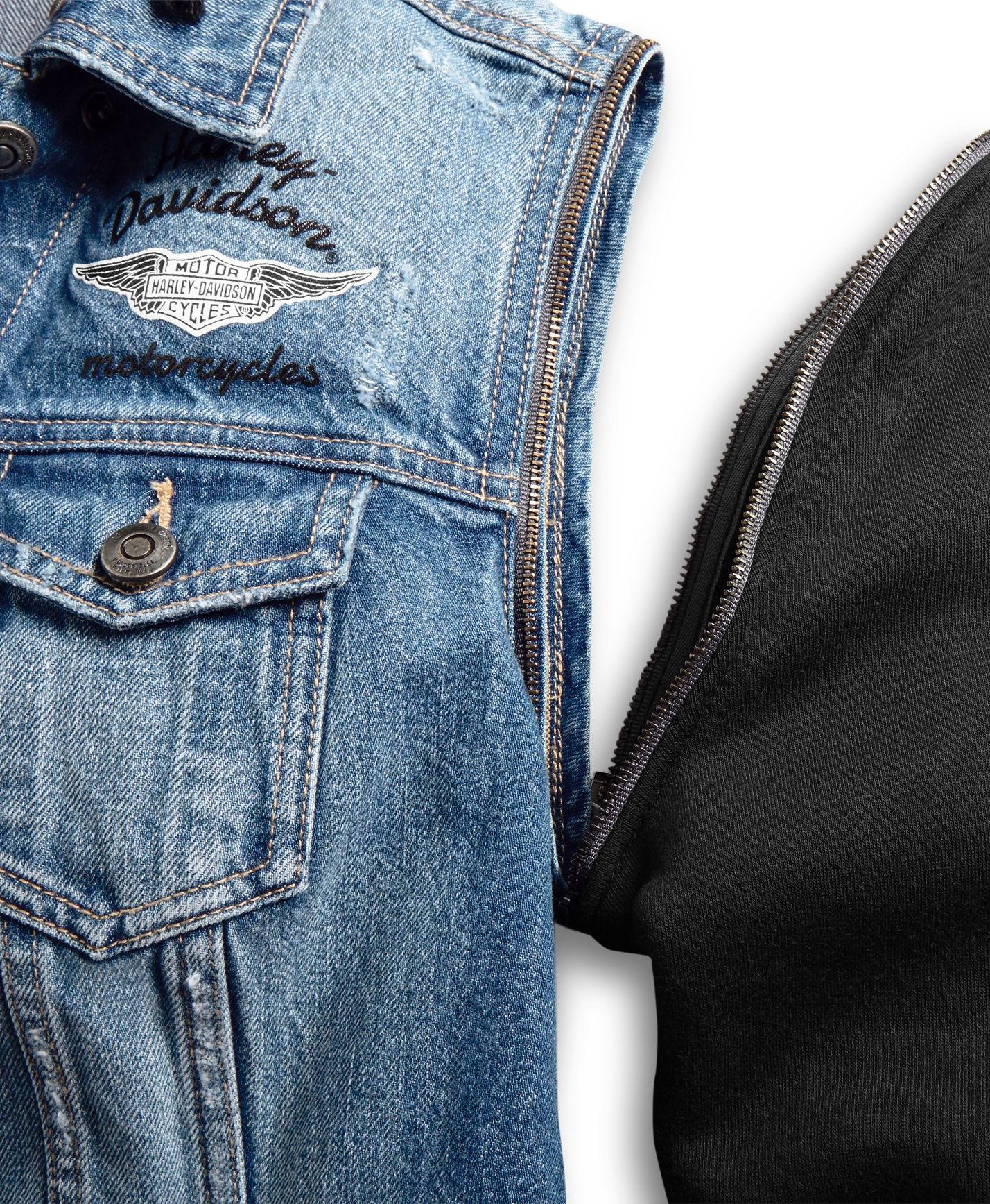 big sale 00ad2 df8d2 98402-20VW Harley-Davidson Damen Jeansjacke Zip-Off im ...