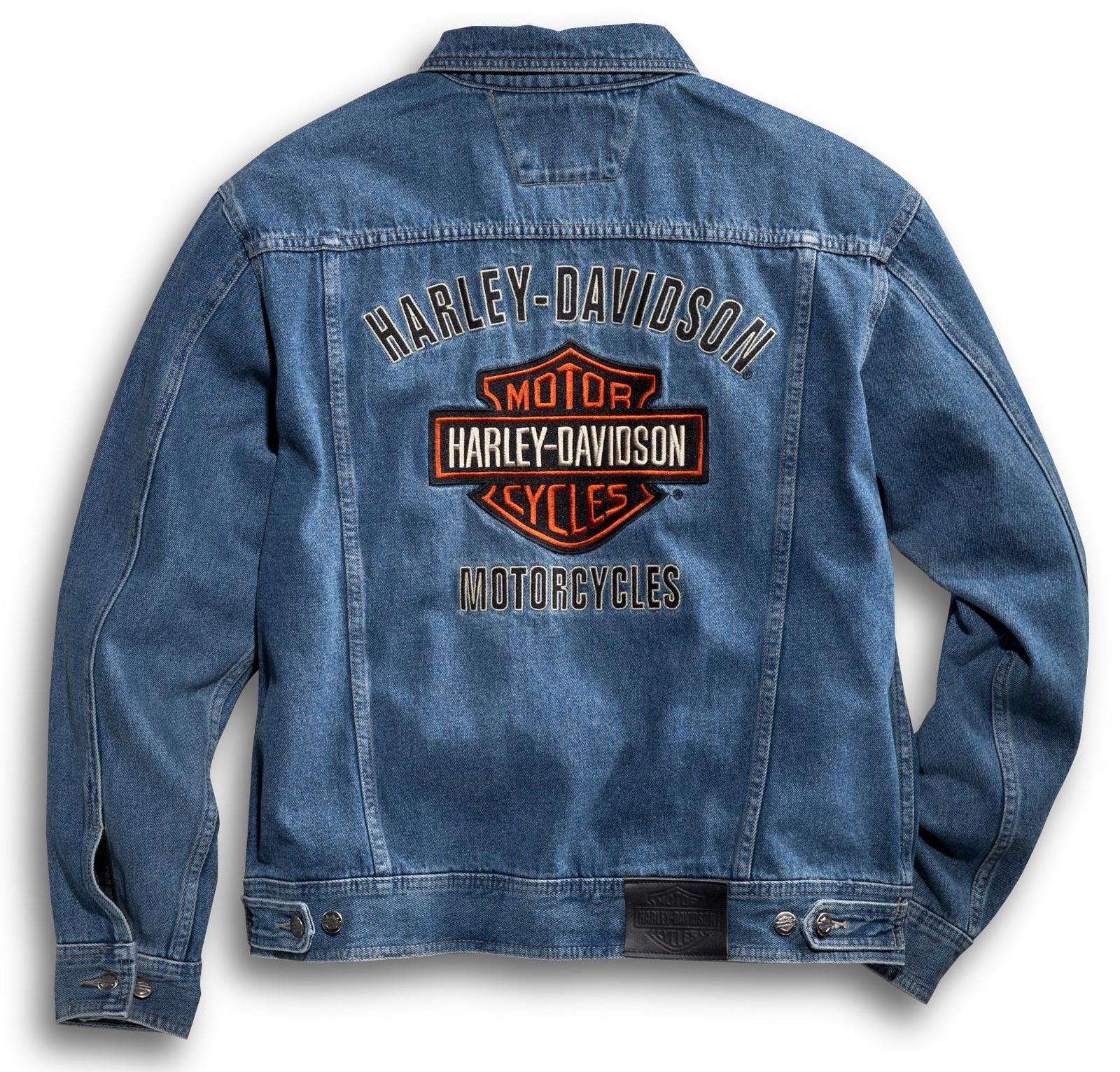 601b44ff988e 99040-08VM Harley-Davidson Denim Jacket Bar & Shield at Thunderbike Shop