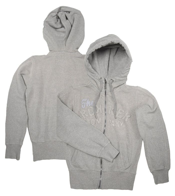 the latest 384f2 cdddf Rokker TRC Damen Zip Hoodie, grau im Thunderbike Shop