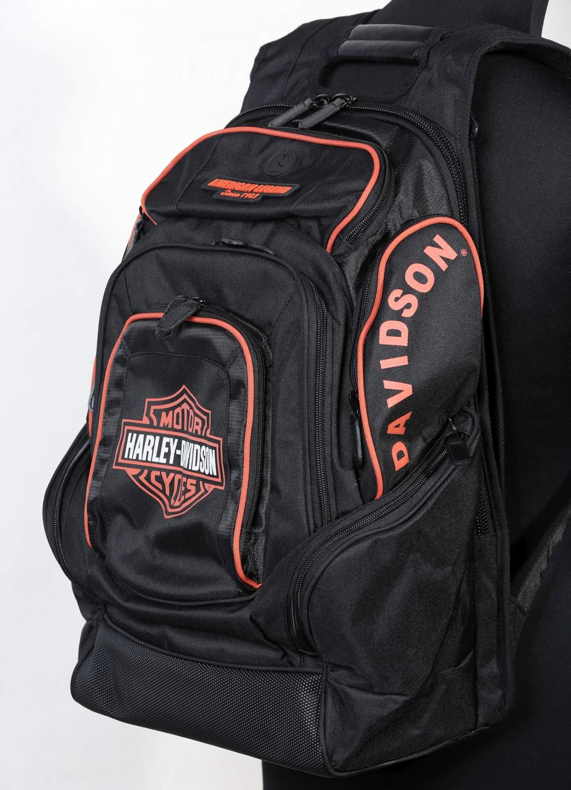 Harley-Davidson Backpack Black Willie G Skull Delux