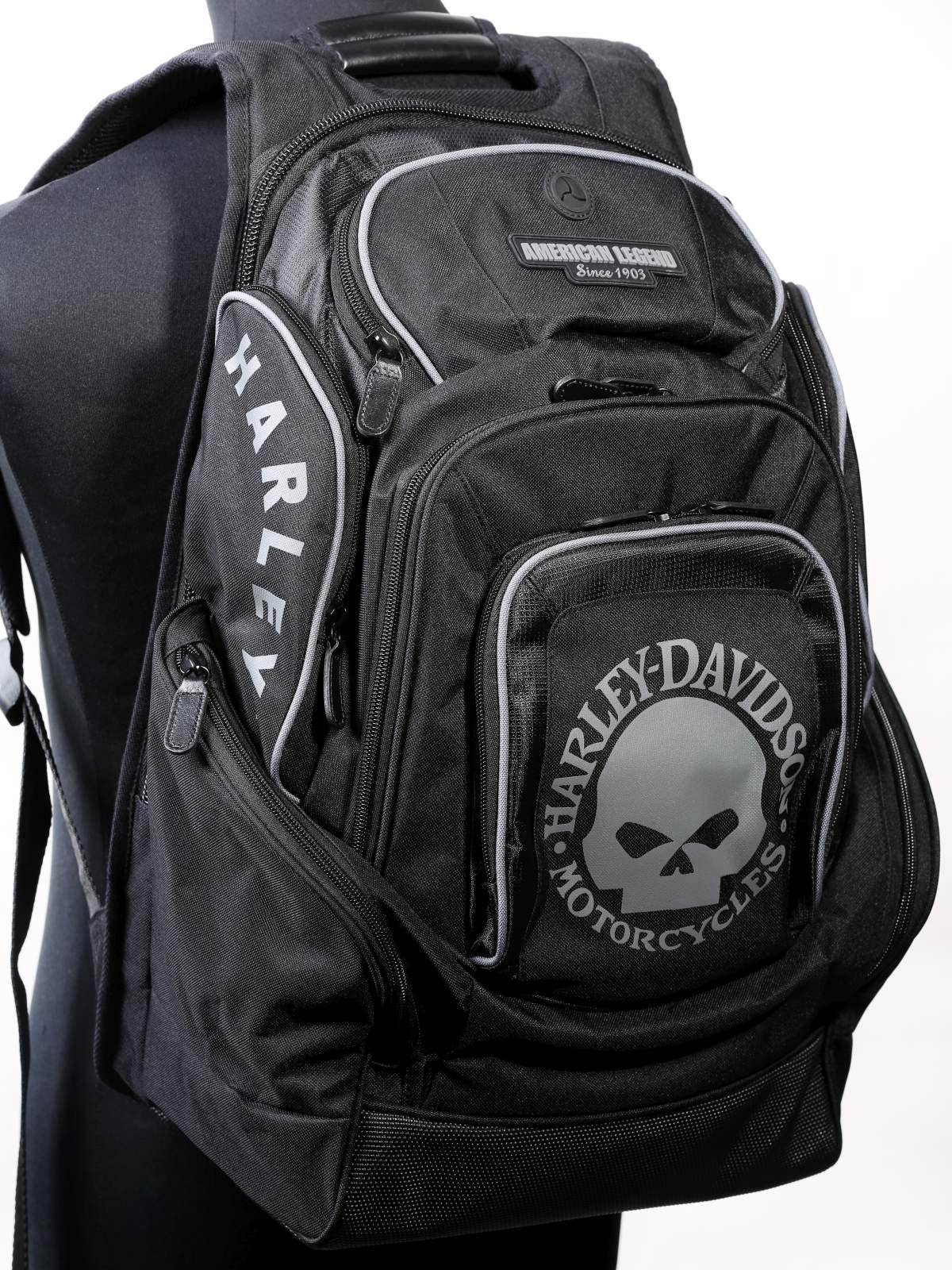 Harley-Davidson Mens Skull Backpack BP1924S-BLACK