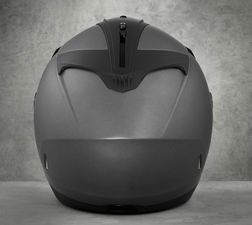 10381786c 98346-17EX H-D Maywood H27 3/4 Helmet, matte silver at Thunderbike Shop